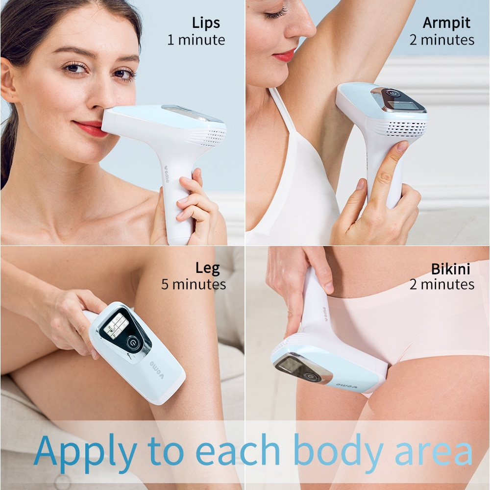 VEME Laser Epilator IPL Laser Hair Removal Machine With 500000 Pulse LCD Permanent Bikini Whole Body Electric Hair Removal enlarge