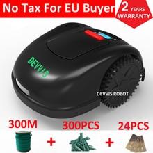 FBA Two Year Warranty 5th Generation DEVVIS Grass Mower Robot Lawn Mower E1600T For Big Lawn 300m,300pcs pegs,24pcs blade