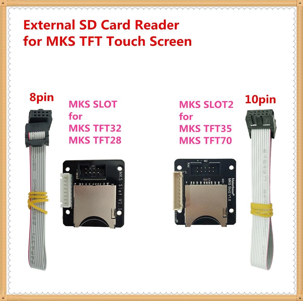 MKS SLOT Slot2 adapter external SD card reader breakout board expander socket for 3d printer MKS TFT35 TFT32 TFT28 touch screen