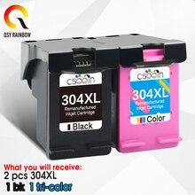 Qsyrainbow 304XL Vervanging Voor Hp 304 Xl Hp Deskjet Envy 5032 5030 3700 3720 2620 2632 2630 5010 5020 3752 printer