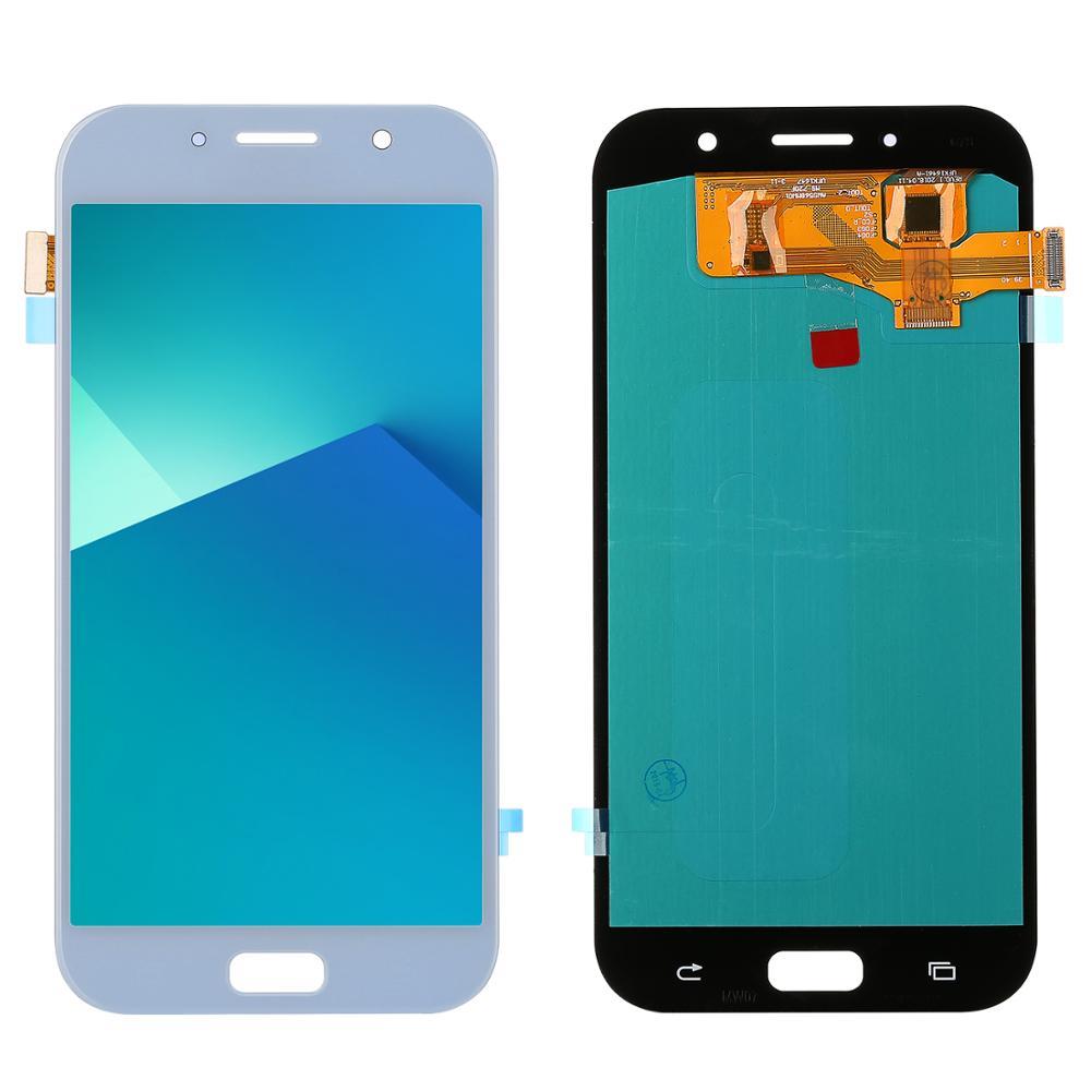 Para Samsung Galaxy A7 2017 pantalla A720 A720F A720M LCD pantalla y digitalizador de pantalla táctil montaje Super Amoled piezas