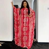 2021 african dresses for women new chiffon maxi long plus size dress african loose red women dress african dress