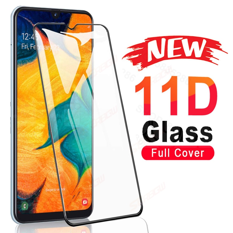11D Tempered Glass On For Samsung Galaxy A01 Core A11 A21 A31 A41 A51 A71 F41 A12 A42 Screen Protector M01 M11 M21 M31 M51 Glass