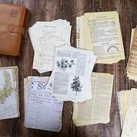 30 Pcs Old Map Flower Letters Music Page Background Material Paper Junk Journal Scrapbooking Vintage Decorative Diy Craft Paper