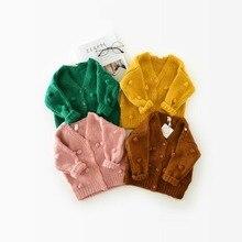 Chandail pour bébé fille de 1-3 ans   Chandail dhiver pour enfant, chandail à main, veste Cardigan pour fille