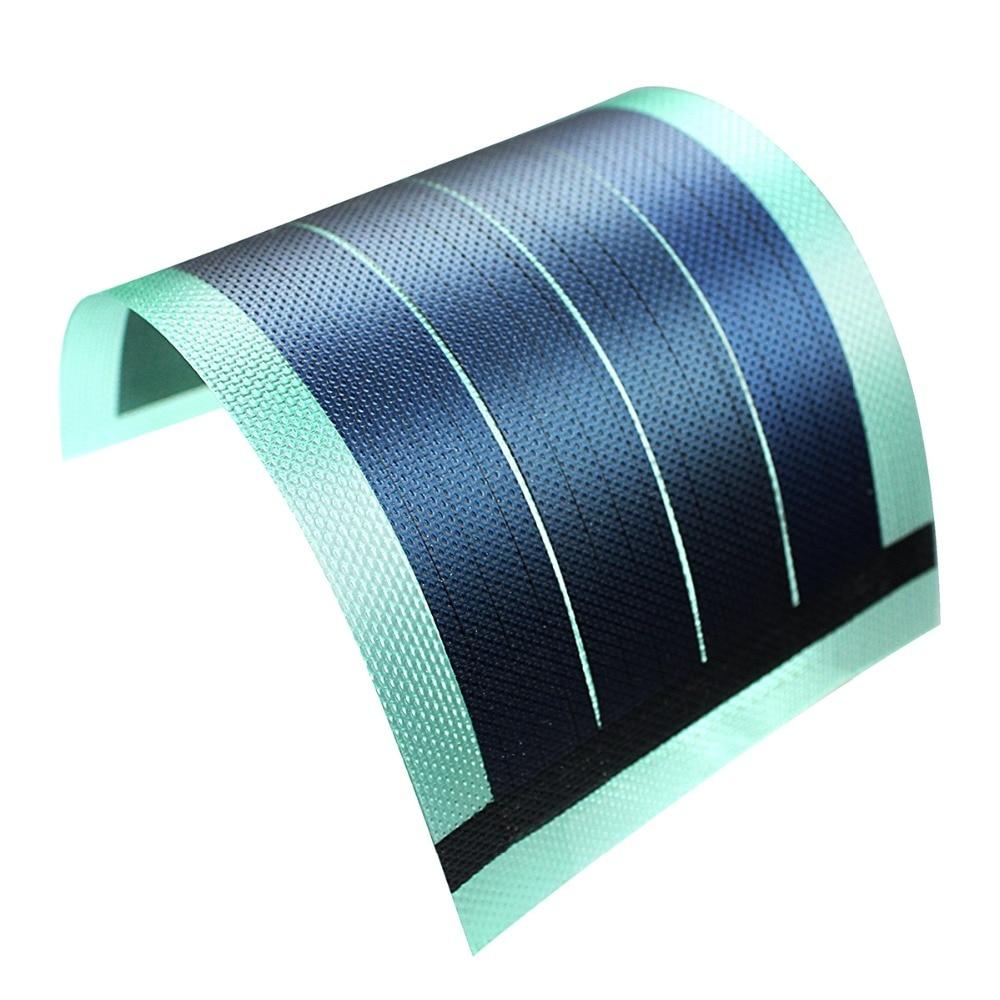 Panel Solar de película fina para niños, Cargador de batería Flexible, Placa...