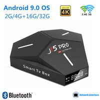 Smart TV Box Android 9.0 4K Ultra HD Media Player 4GB 32GB TVBOX Android 9 TV Receiver Bluetooth 4.0 WiFi 2.4 / 5G Set Top Box,Поддержка Youtube M3U H.265 3D Audio Горячая продажа в России