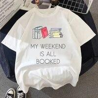 women tshirts oversized vintage style fashion heavy books print funny summer white t shirt women princess fashion short t shirt