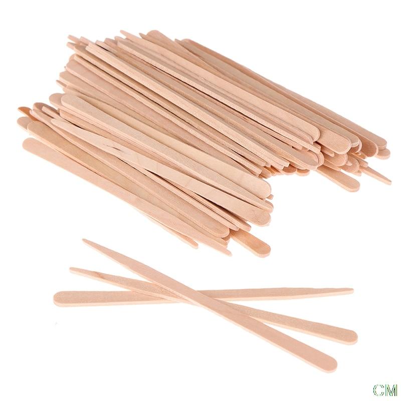 100Pcs/lot Waxing Craft Wax Stick Tattoo Medical Wooden Sticks Wooden Face Hair Removal mini wood sticks beauty body tools hair removal wax wood stick wax stick ice cream stick mask stick face sticks