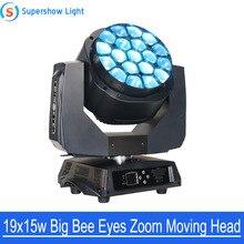19x15W 4in1 RGBW Big Led Light Bee Eye Moving Head Big Eye k10 4in1 Led Big Bee Eye 19pcs Zoom Light