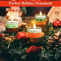 12pcs christmas aromatherapy candles themed scented candle long lasting full burning portable and reusable tin widely used in ho