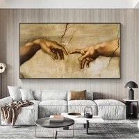 hands creation of adam canvas paintings reproductions classical famous canvas wall art prints for bed room wall decor pictures