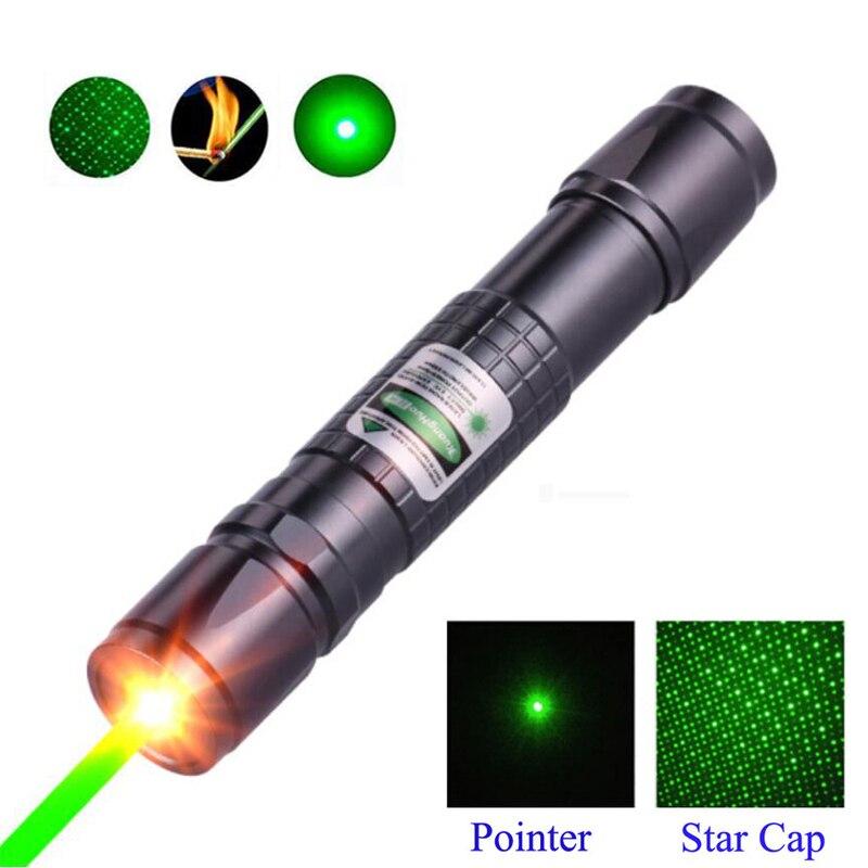Puntero láser verde de alta potencia, bolígrafo láser táctico de caza lazer 532 nm 5mW 303, bolígrafo láser ardiente con un láser de caza combinado