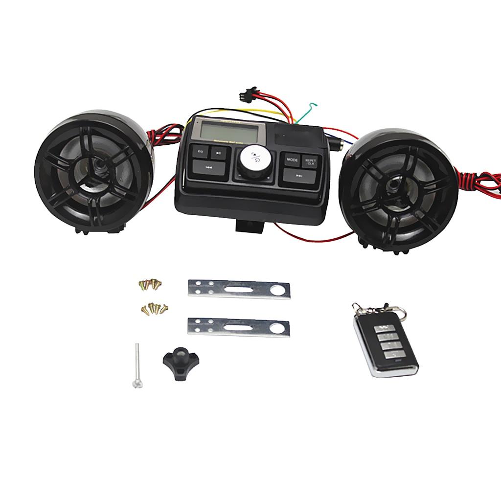 1 Set impermeable de la motocicleta UTV eléctrica montura de manillar de bicicleta de Audio FM Radio Estéreo Kit de control remoto