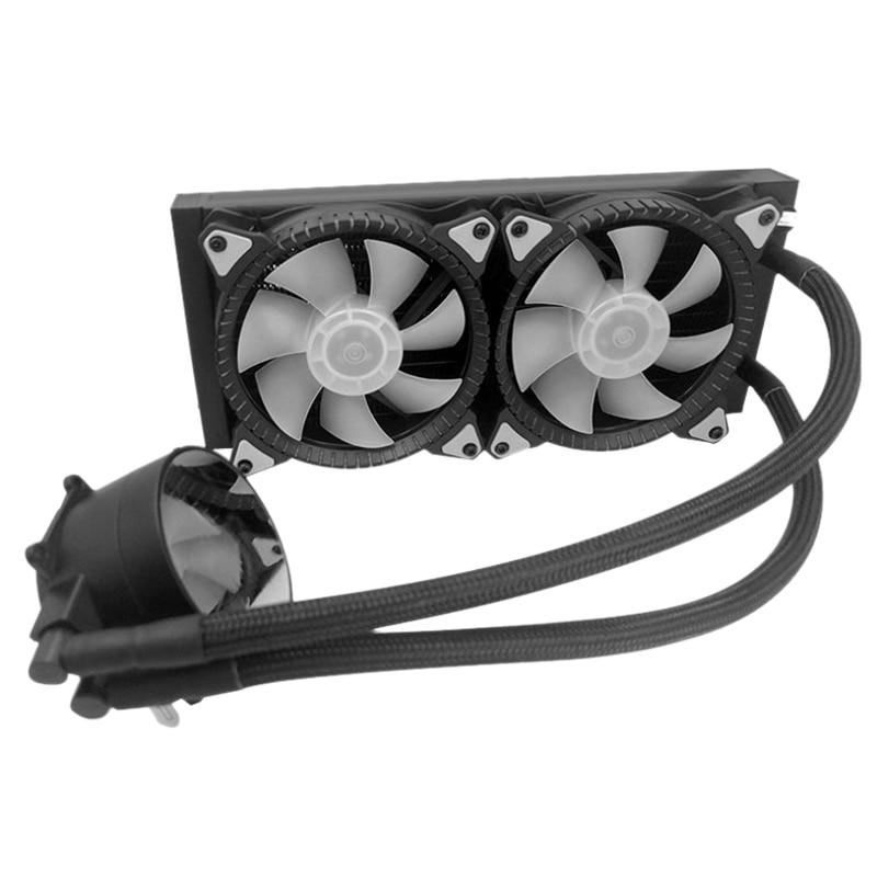 Ультра-тихий компьютер с водяным охлаждением Cool Storm 240, все в одном, с антибликовым покрытием, кулер для процессора Argb Fan 1366, не протекает