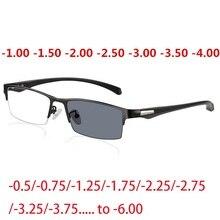 Vazrobe Myopie Sonnenbrille Männer Photochrome Sonnenbrille für Mann Minus-0,5-0,75-1,25-1,5 zu- 6,00 Weit Anblick Übergang UV400