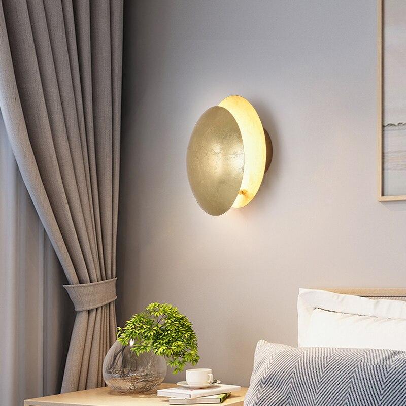 الشمال الإبداعية غرفة المعيشة الممر فندق حائط الخلفية ضوء المصباح الفاخرة نمط بسيط الحديثة نوم السرير LED مصباح