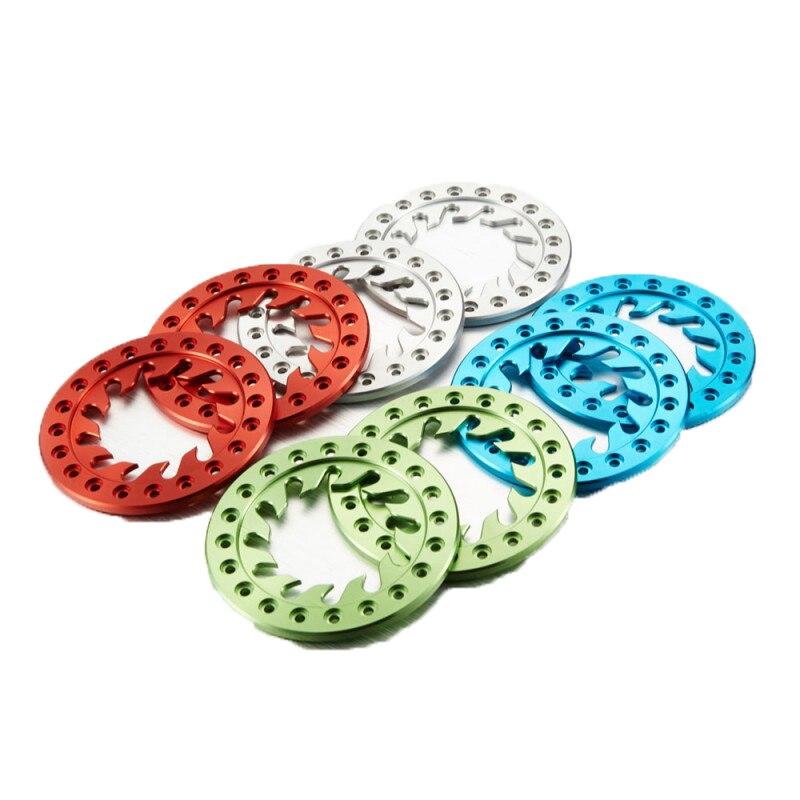 Tgrc 2 pçs rc aolly 4 anéis de cor b apto para 1.9 bebebeadlock aro da roda C1401-113