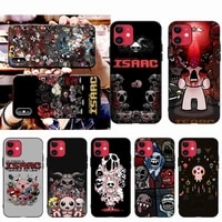 hpchcjhm the binding of isaac black phone case hull for iphone 11 pro xs max 8 7 6 6s plus x 5s se 2020 xr case