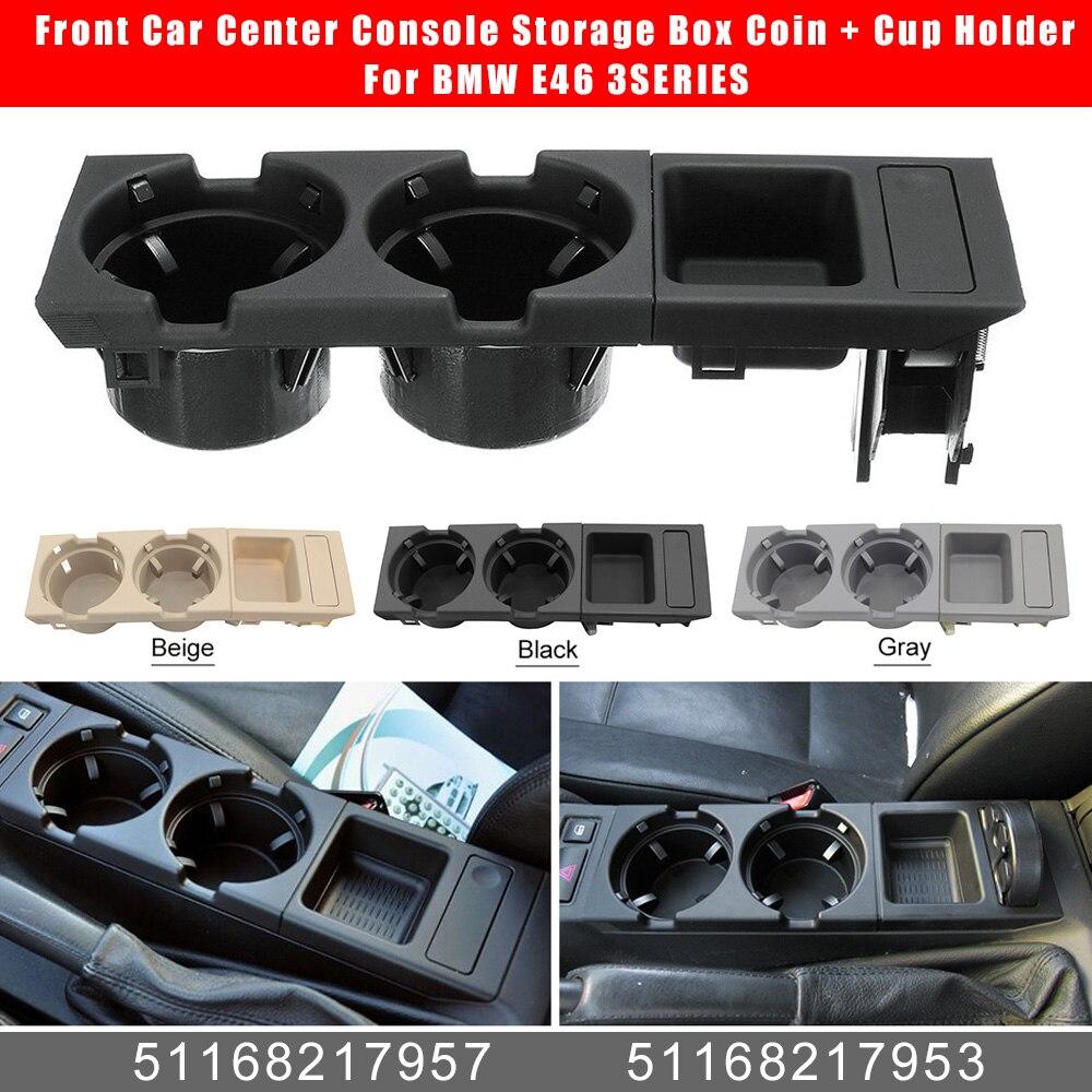 Frente compartimento central para coche caja de almacenamiento moneda + soporte para BMW E46 3 de la serie 51168217957