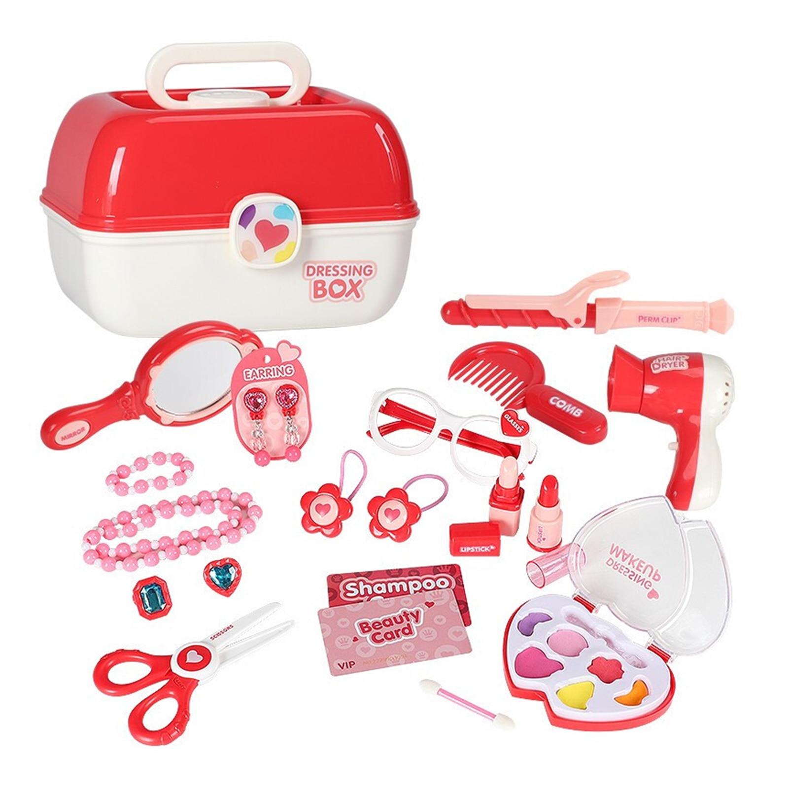 Детский набор игрушек для макияжа, принцесса, ролевые игры, парикмахерские салоны, расческа для волос, коробка для симуляции, ролевые игры д... ролевые игры ami