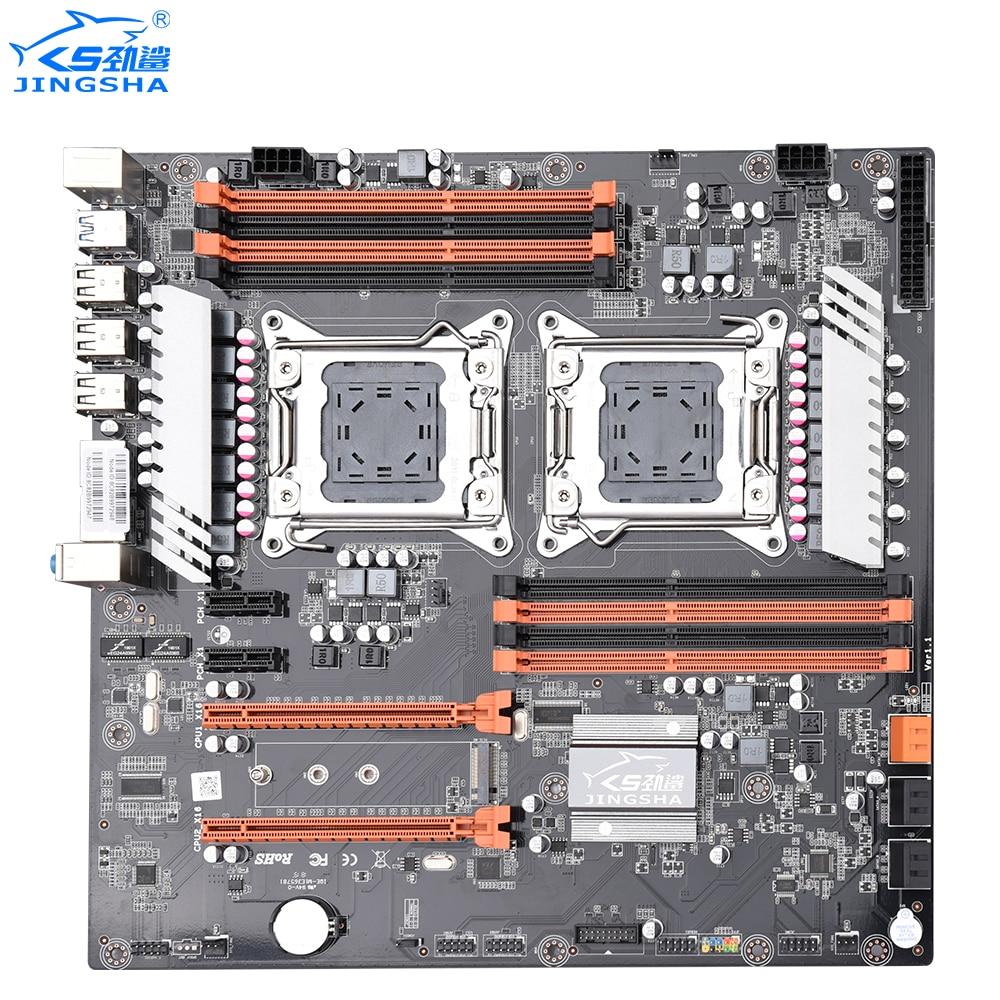 Placa base de CPU Dual JINGSHA X79 LGA2011 SATA3.0 ATX 8 canales DDR3 X79 placa base Dual Gigabit Ethernet hasta 25