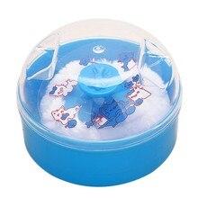 New High Quality Baby Talcum 1pcs Foam Puff Box Face Fluffy Powder Soft