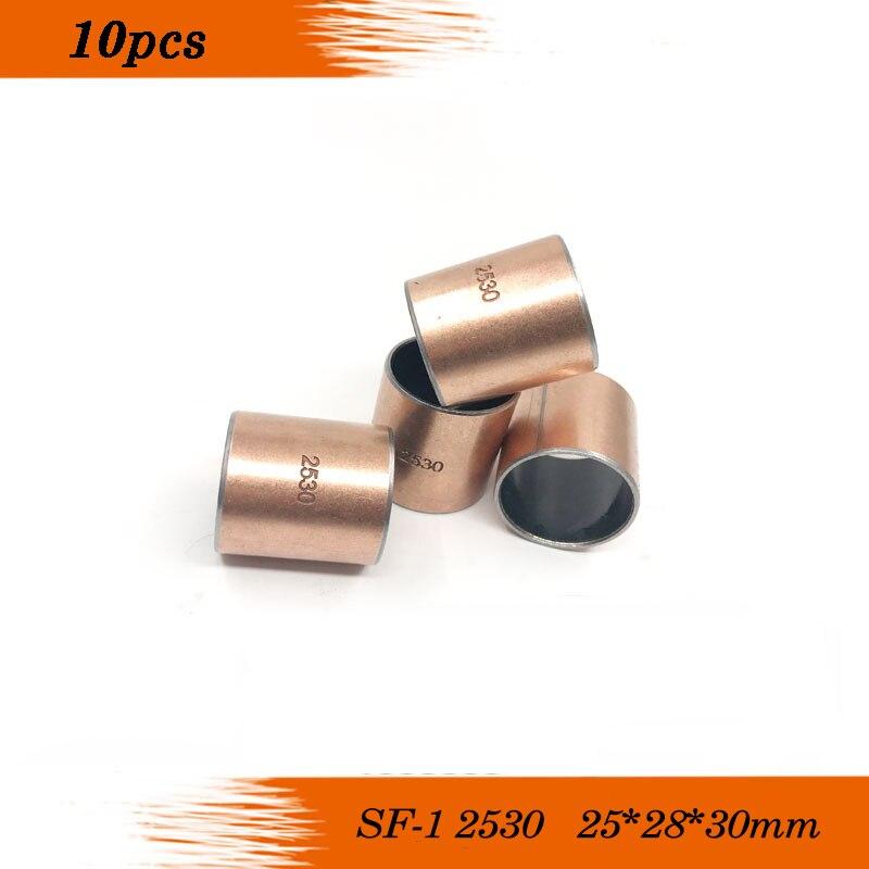 10 Uds SF1 SF-1 2530 252830 lubricante camisa de buje de cojinete compuesto 25*28*30mm envío gratis de alta calidad