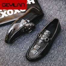 Big Size 39-44 Men Loafers Real high quality Shoes Fashion Men Boat Shoes Brand Men Casual Leather S