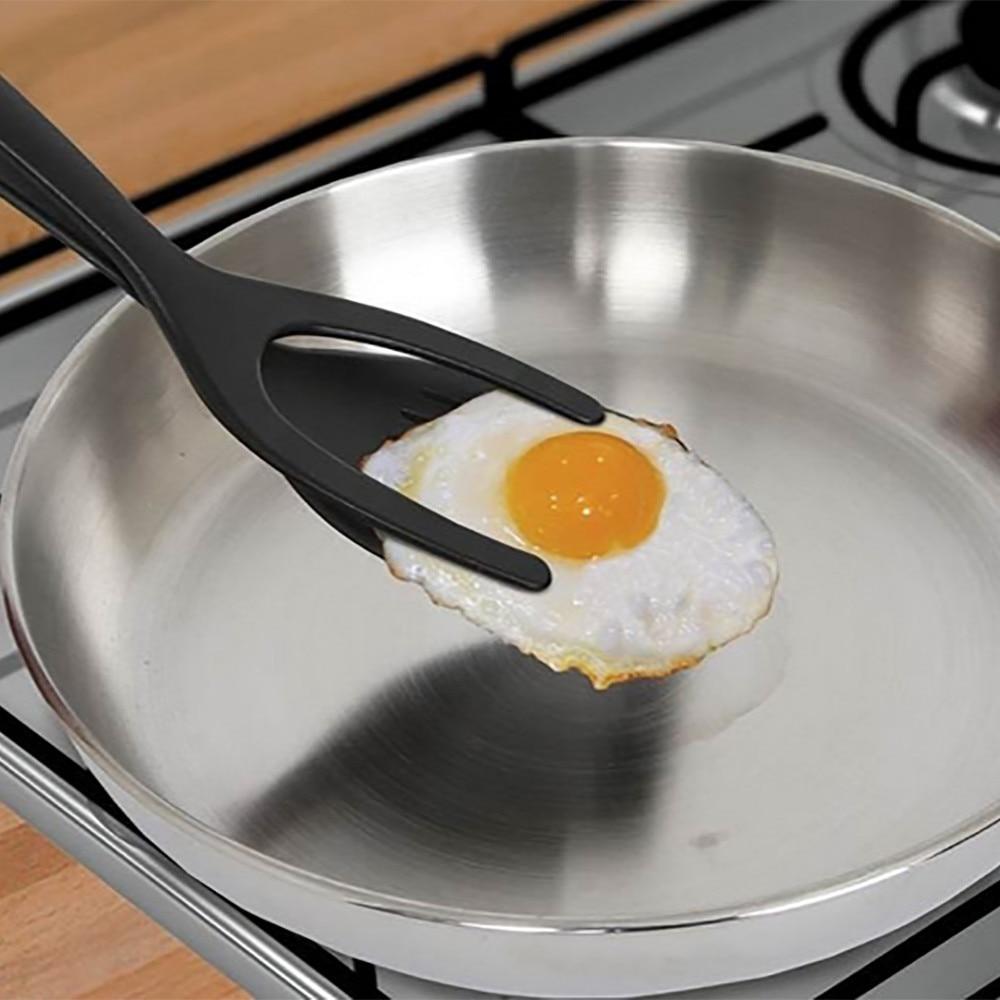 Espátula para huevos de silicona flipper 2 en 1 Grip and Flip espátula Pancake Rench Toast tortilla hacer cocina casera Herramienta #15
