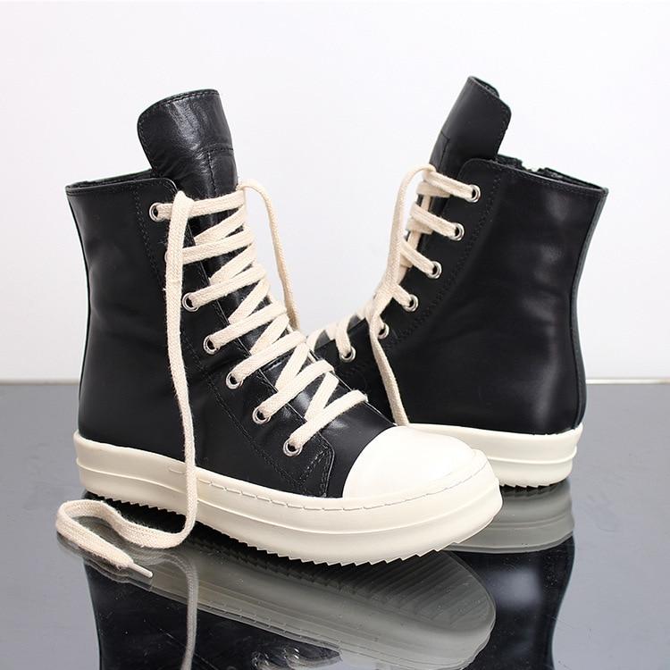 أحذية رياضية هيب هوب للرجال ، أحذية رياضية عالية الجودة ، نمط غير رسمي ، أحذية رياضية ريترو مع نعل وسحاب ، مقاس 36-46