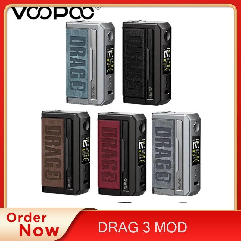Original Voopoo DRAG 3 MOD TC 177W Electronic Cigarette Box MOD Vape Support TPP Pnp Pod Cartridge T