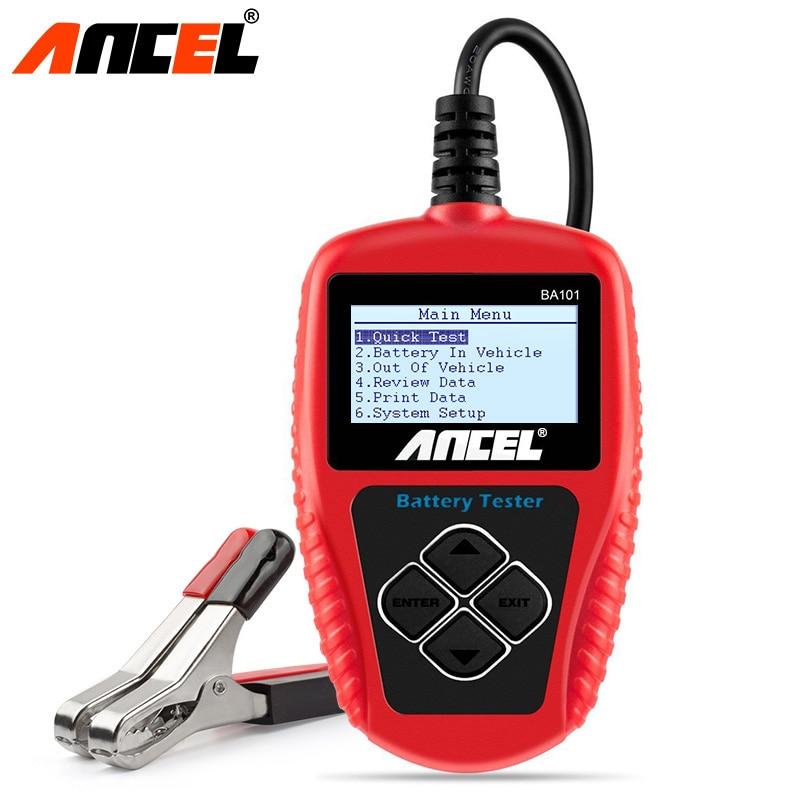 ANCEL BA101 Car Battery Tester 12V Digital Analyzer 2000CCA 220AH Automotive Car Battery Scanner In Multilingual Diagnostic Tool