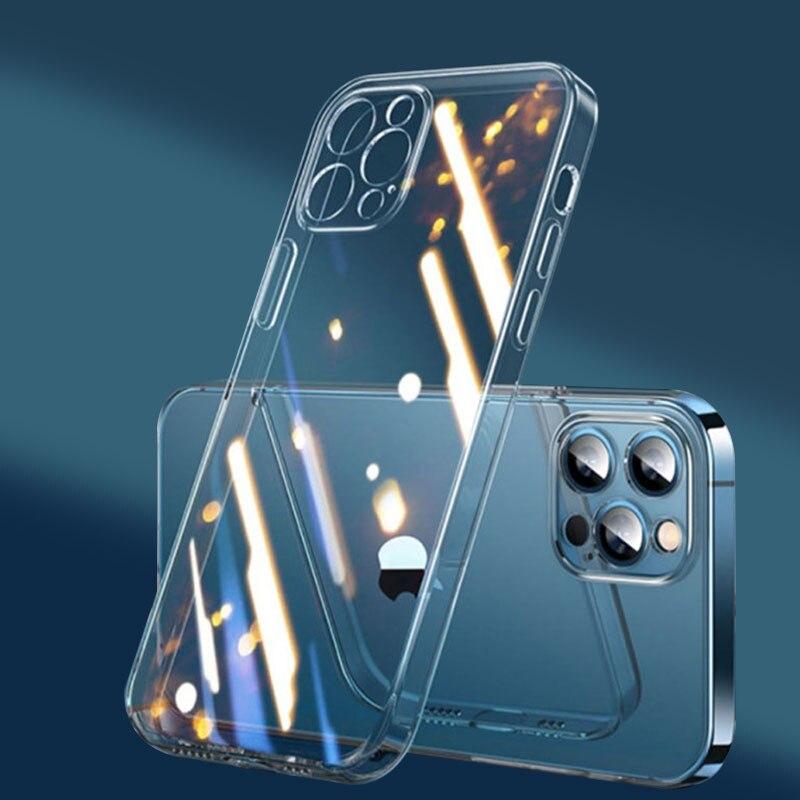 Прозрачный чехол для телефона iPhone 11 12 Pro Xs Max, силиконовый ударопрочный чехол для iPhone 8 Plus 6 7 SE 2020 Xr, чехол для iPhone X Бамперы      АлиЭкспресс