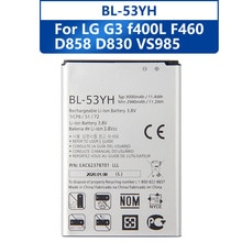Agaring Original Ersatz Telefon Batterie BL-53YH Für LG G3 F400 F460 D858 D830 VS985 Authentische Akku 3000mAh
