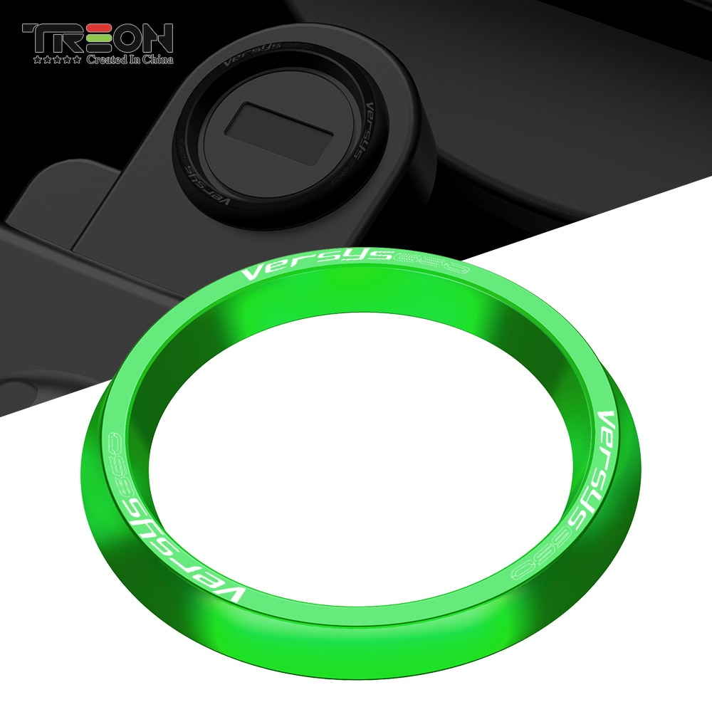 luminous ignition switch cover key aluminum alloy switch decoration ring motorcycle car styling interior accessories promotion Motorcycle Ignition Cover Key Switch Ring CNC Aluminum Accessories For KAWASAKI VERSYS650 VERSYS 650 2015 - 2018 2019 2020 2021