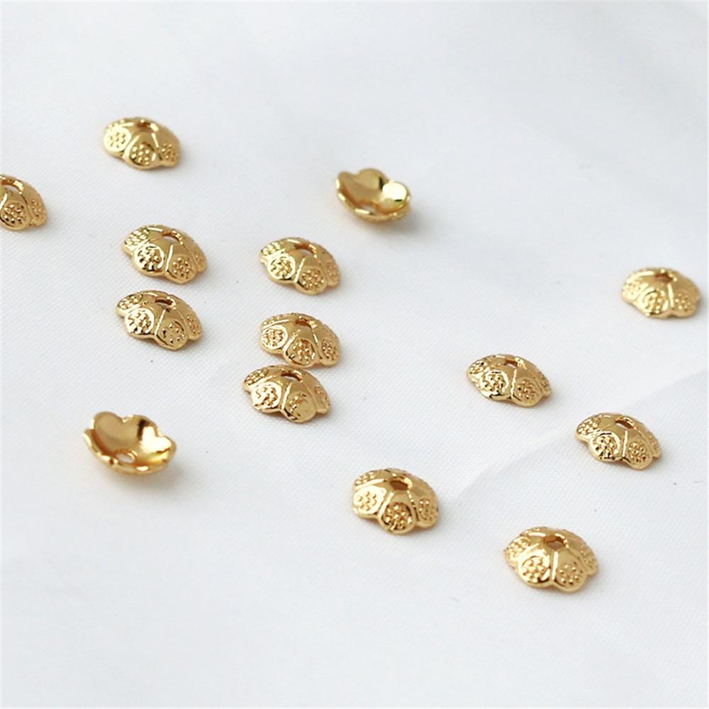 14K الذهب شغل وعاء سلسلة قطر 6 مللي متر وعاء لتقوم بها بنفسك الملحقات
