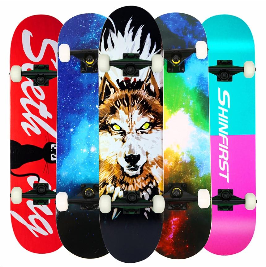 Скейтборд для серфинга, уличный Кленовый Скейтборд для начинающих подростков, доска для серфинга, скейтборд для дрифта, спортивное оборудо...