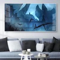 Animation peinture a lhuile air chateau art toile peinture salon couloir bureau decoration murale