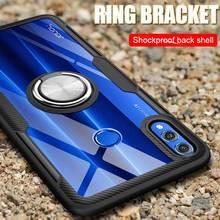 Pour Huawei Honor 8X étui à lentilles trempées Honor 7X 8S 8X Max 10 20 étui armure pour 10i 20i 10 Lite 20 Lite V30 Pro étui antichoc