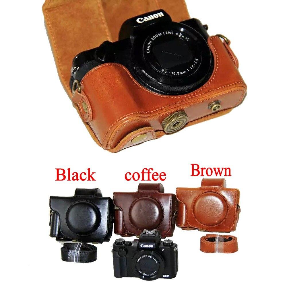 Neue PU Leder Kamera Fall Video Tasche Für Canon PowerShot G5X Digital Kamera Tasche Mit Gurt