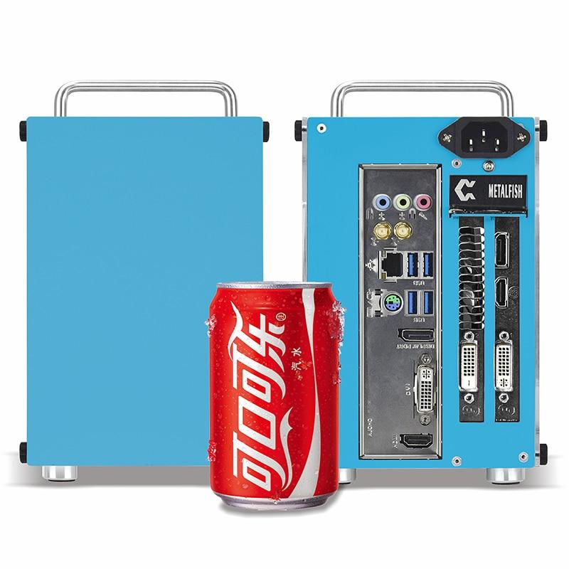 Metal fish T60 A4 Mini-ITX case كمبيوتر ألعاب هيكل أبيض جهاز كمبيوتر شخصي صغير صندوق نقل USB3.0 وردي/أزرق صغير SFX الشاسيه