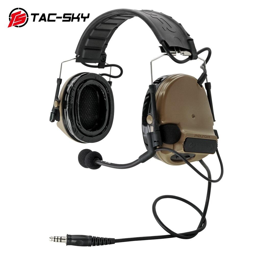TAC-SKY التكتيكية سماعة COMTAC III انفصال عقال الحد من الضوضاء لاقط اسلكية تخاطب سماعة دي