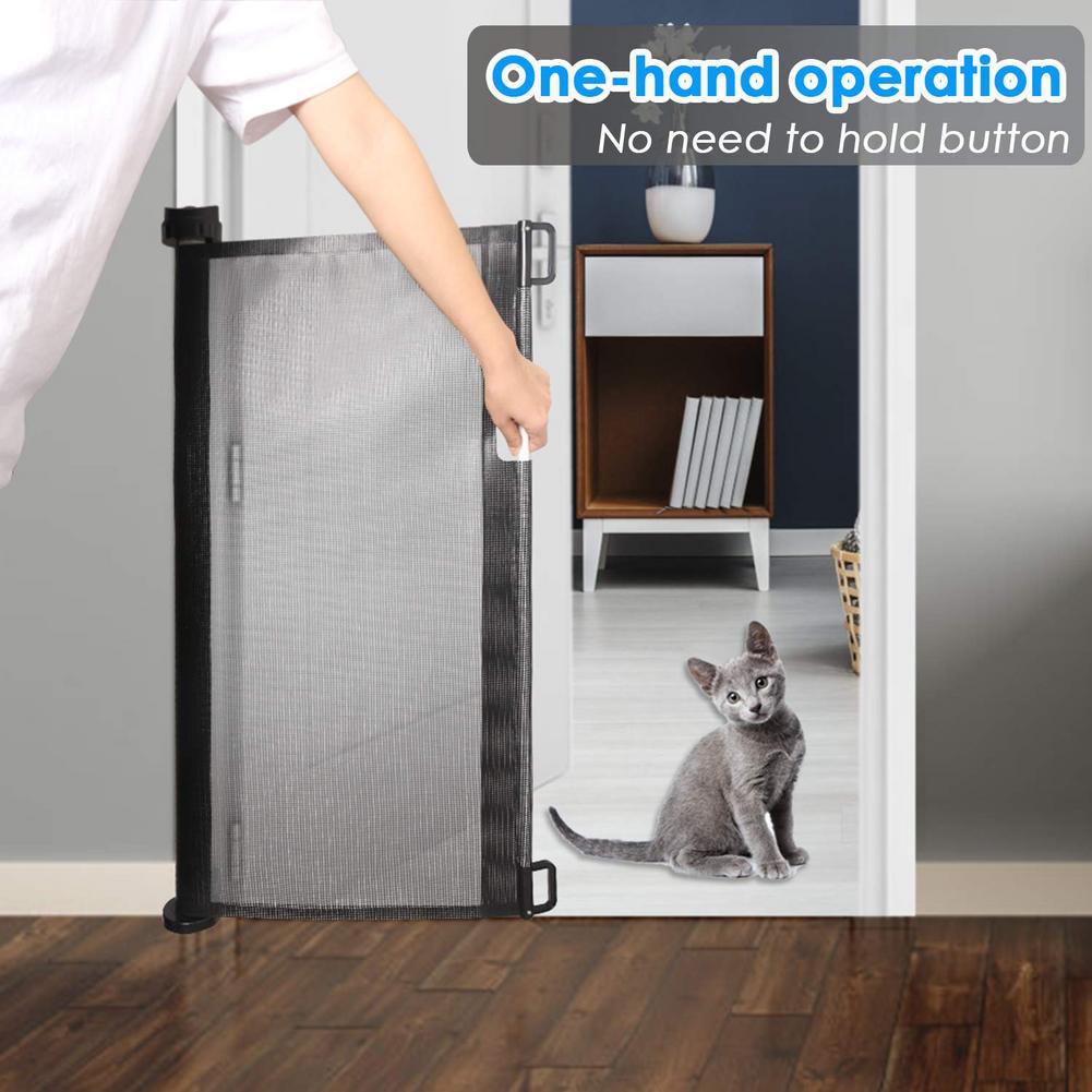Indoor And Outdoor Retractable Gate Child Pet Mesh Safety Door Plastic Pet Dog Fence enlarge