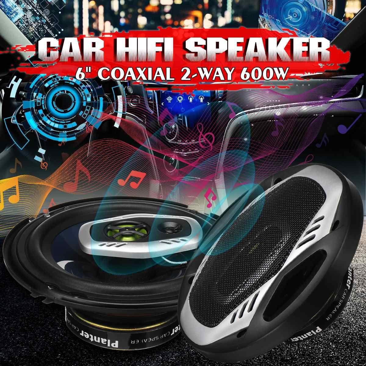 2 шт./компл. 600 Вт 6 дюймов Автомобильный Hi-Fi коаксиальный динамик 2-полосная Автомобильная дверь авто аудио Музыка Стерео полный диапазон час...