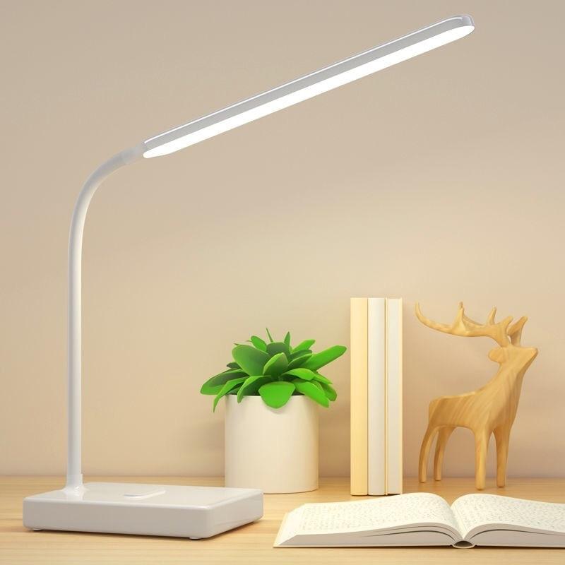 LED d Desk Lamp Modern Office Reng Table Light Touch Switch Bending USB Plug in Work Dimmer Led Table Lamps for Bedroom