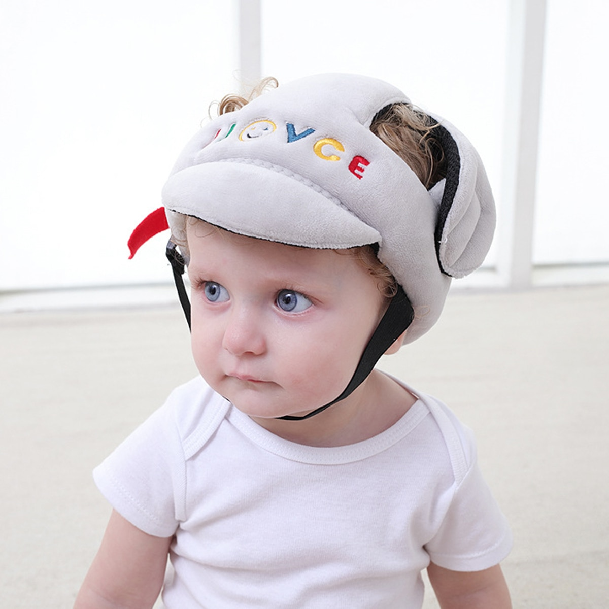 Free ship Adjustable Baby Toddler Safety Helmet Protective Harnesses Hat Cap Adjustable Head Guard Kids Head Protector 2 Color