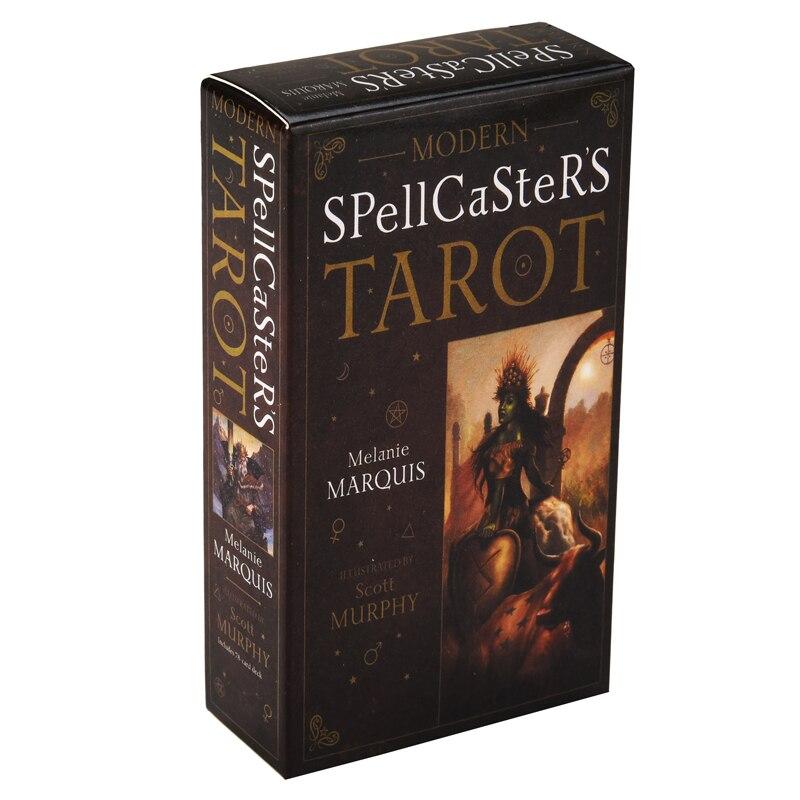 Moderno hechicera de cartas del Tarot mejorar adivinación magia prácticas conectar con los elementos para el aumento de poder personal.