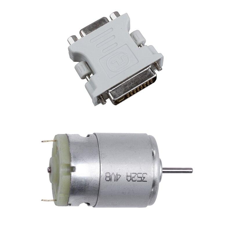2 uds accesorios 1 Uds DVI macho 24 Plus 5 DVI-I a VGA adaptador hembra y 1 Uds RS380 DC 1,5-18V 30000 RPM micromotor