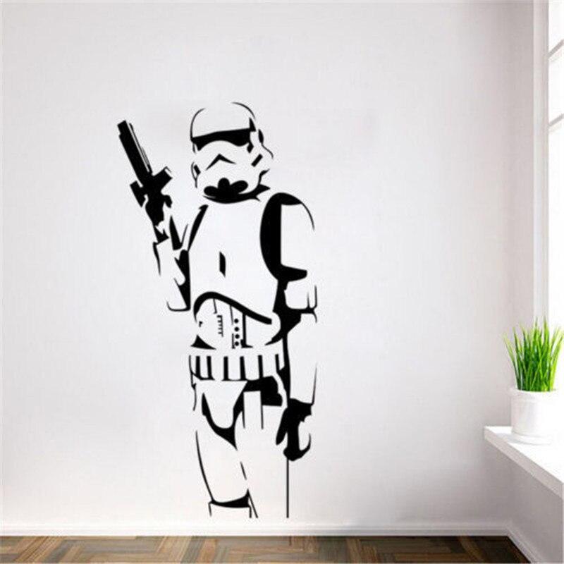 Звездные войны, штурмовик, наклейка на стену, Виниловая наклейка, сделай сам, дети, спальня, Декор, настенное искусство, креативные картины